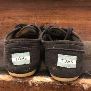 Toms black canvas cordones sneaker